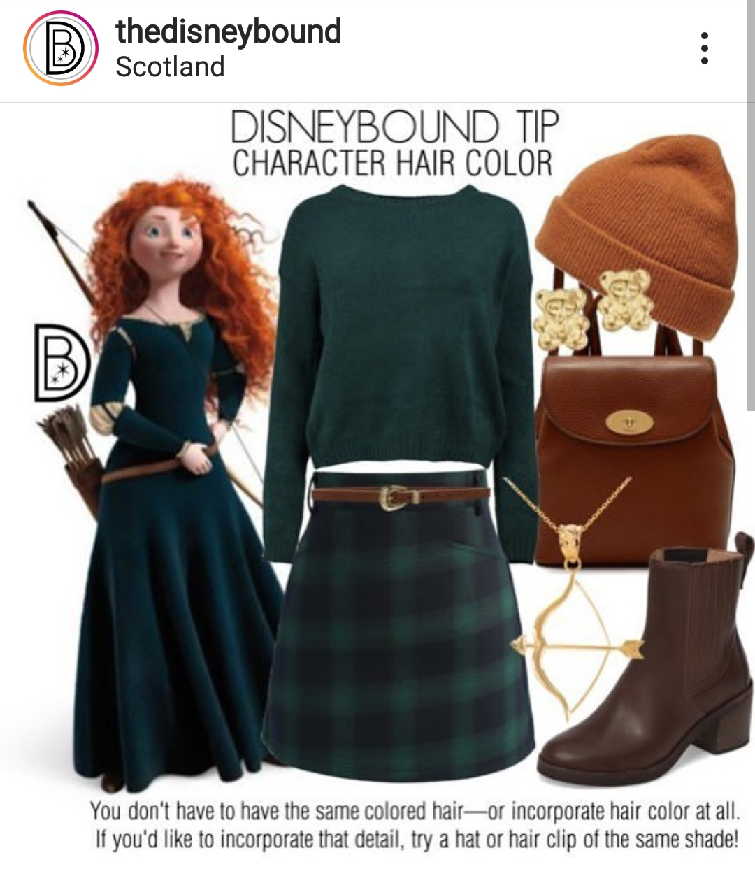 merida-disneybound